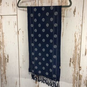 "Vintage Silk Scarf.  11""x44"".  H86"